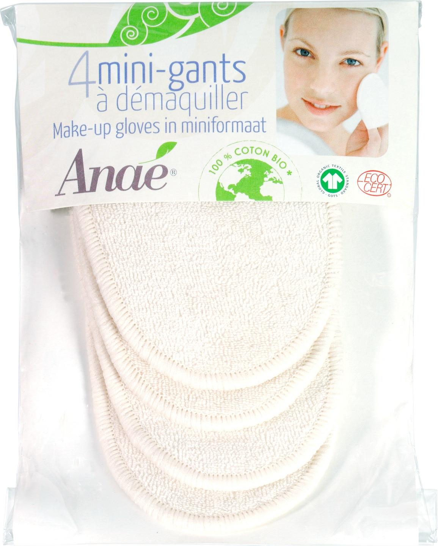 Biologische Anae Wasbare make-up handschoen 4 st