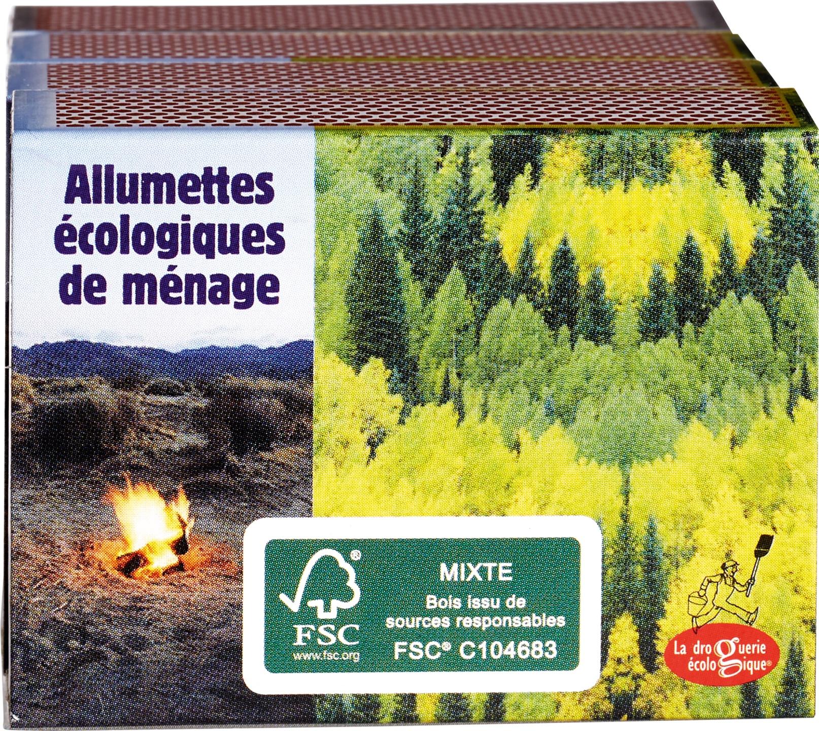 Biologische La Droguerie Écologique Zwavelvrije lucifers FSC 4 st
