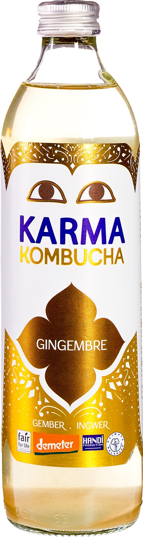 Biologische Karma Kombucha gember 500 ml