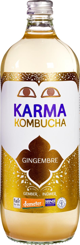 Biologische Karma Kombucha gember 1 L