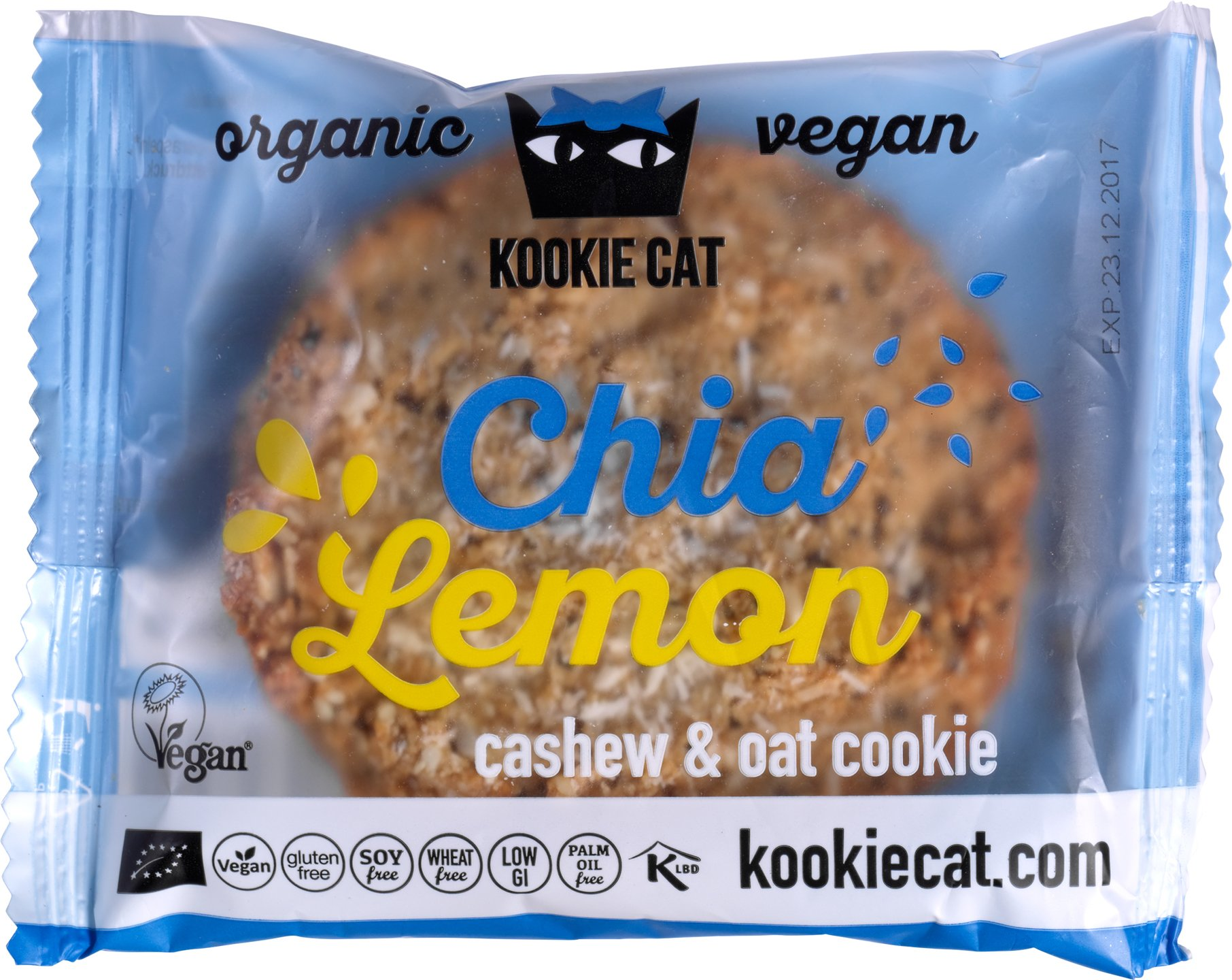 Biologische Kookie Cat Koek chia - lemon 50 gr