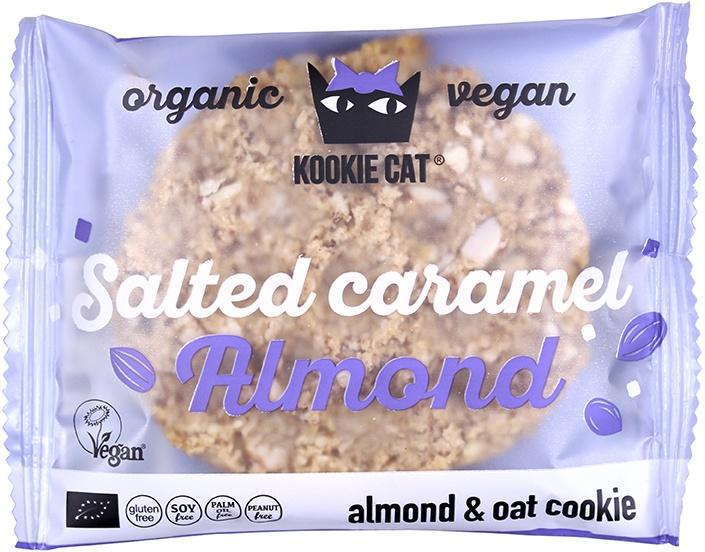 Biologische Kookie Cat Koek gezouten caramel - amandel 50 gr
