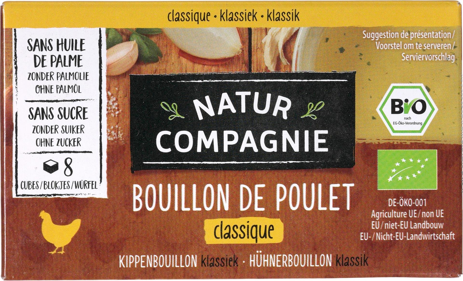 Biologische Natur Compagnie Kippenbouillonblokjes 8 st