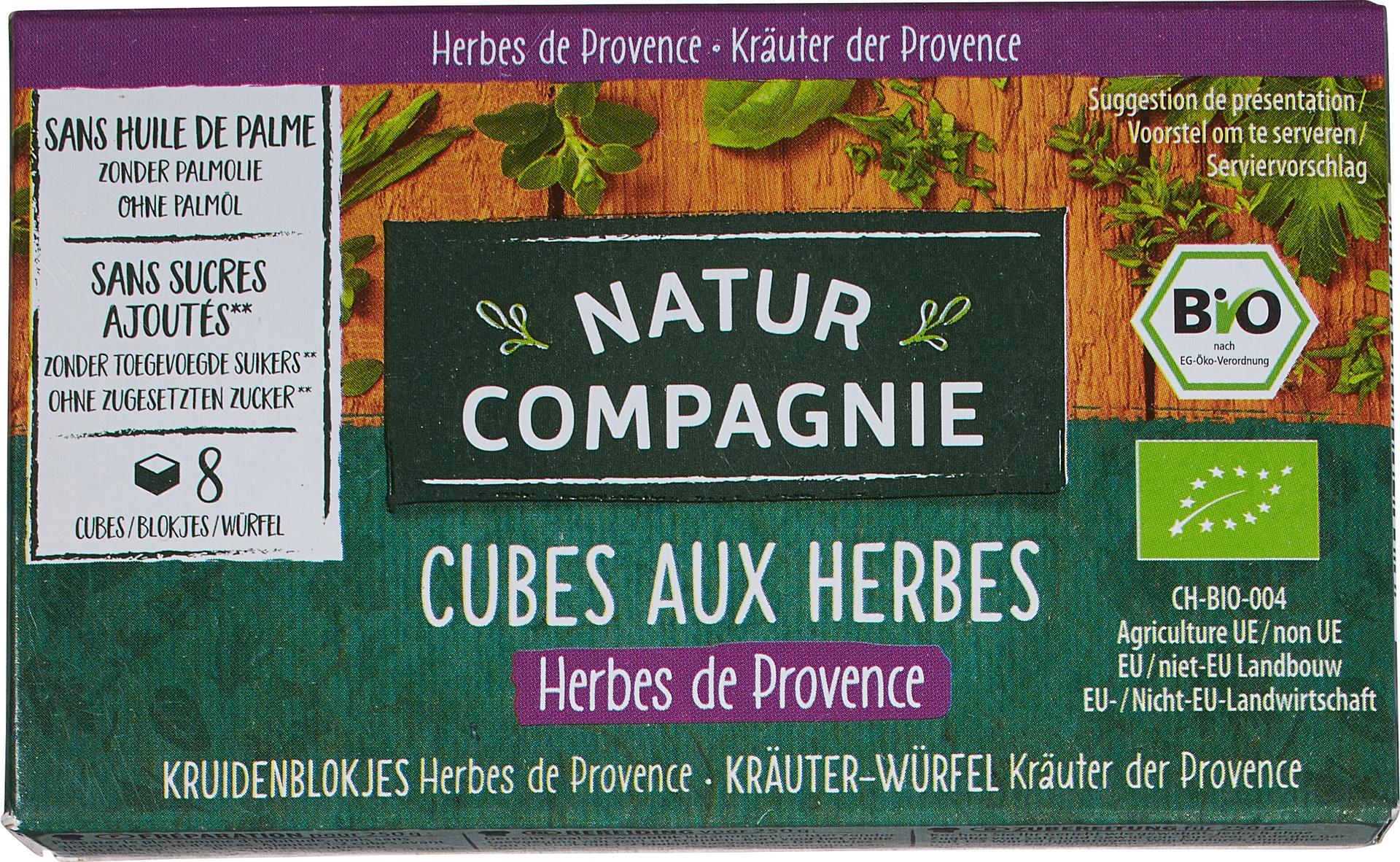 Biologische Natur Compagnie Kruidenbouillonblokjes provençaalse kruiden 8 st