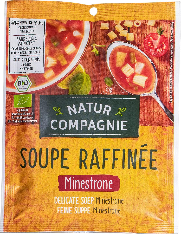 Biologische Natur Compagnie Groentesoep minestrone instant 2-kops 50 gr