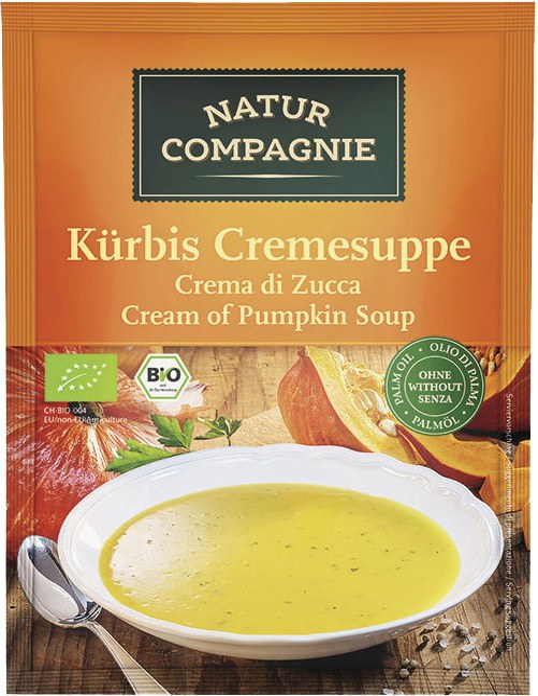Biologische Natur Compagnie Pompoencrèmesoep instant 2-kops 40 gr