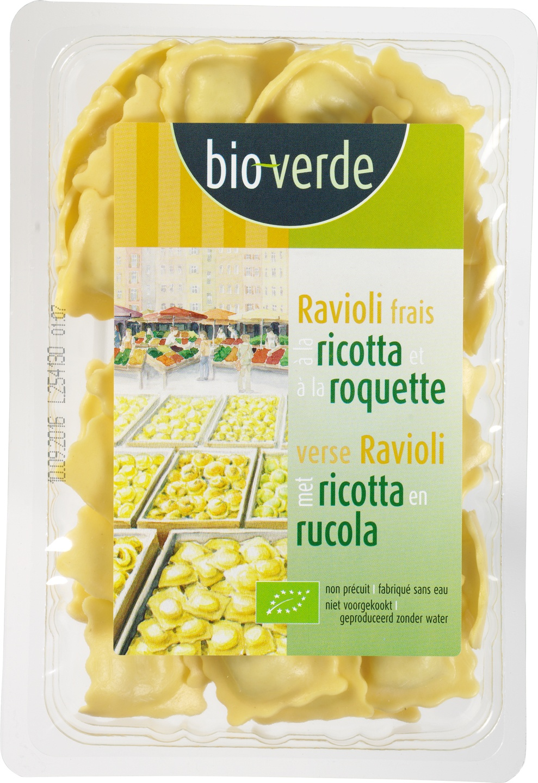 Biologische Bioverde Verse ravioli met ricotta 250 gr