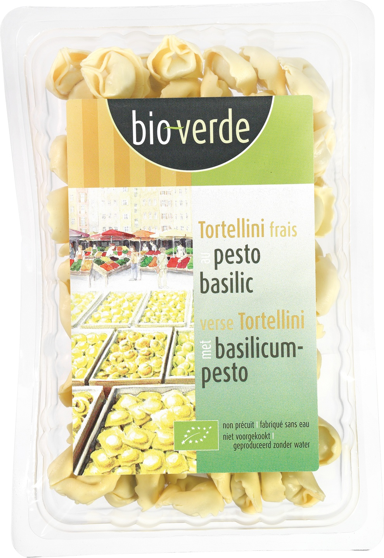 Biologische Bioverde Tortellini basilicum pesto 200 gr