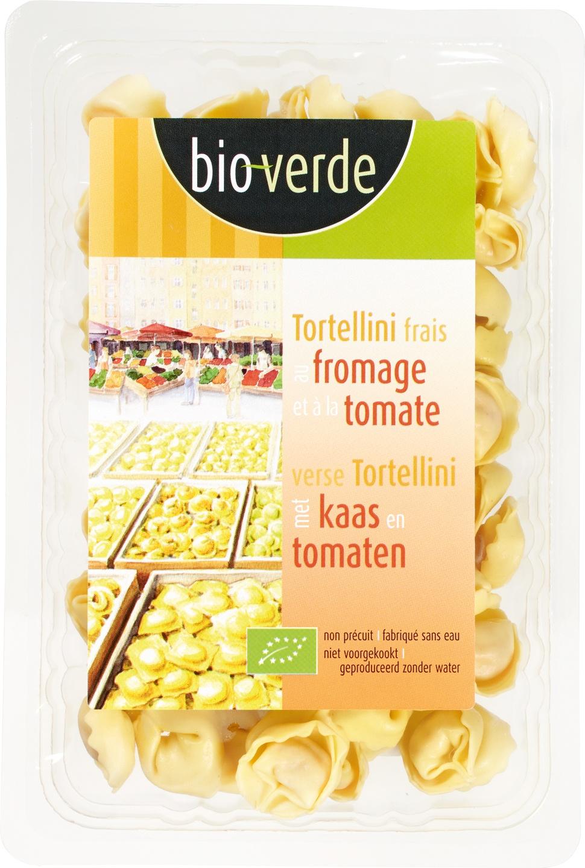 Biologische Bioverde Verse tortellini kaas-tomaten 200 gr