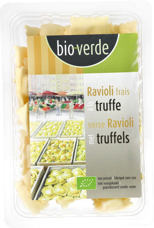 Biologische Bioverde Verse ravioli met truffels 250 gr