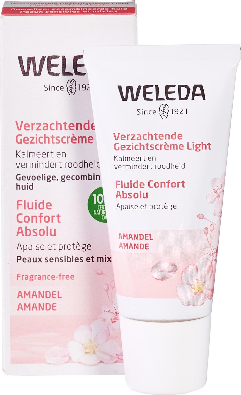 Biologische Weleda Dag- en nachtcrème amandel light - gevoelige & gemengde huid 30 ml