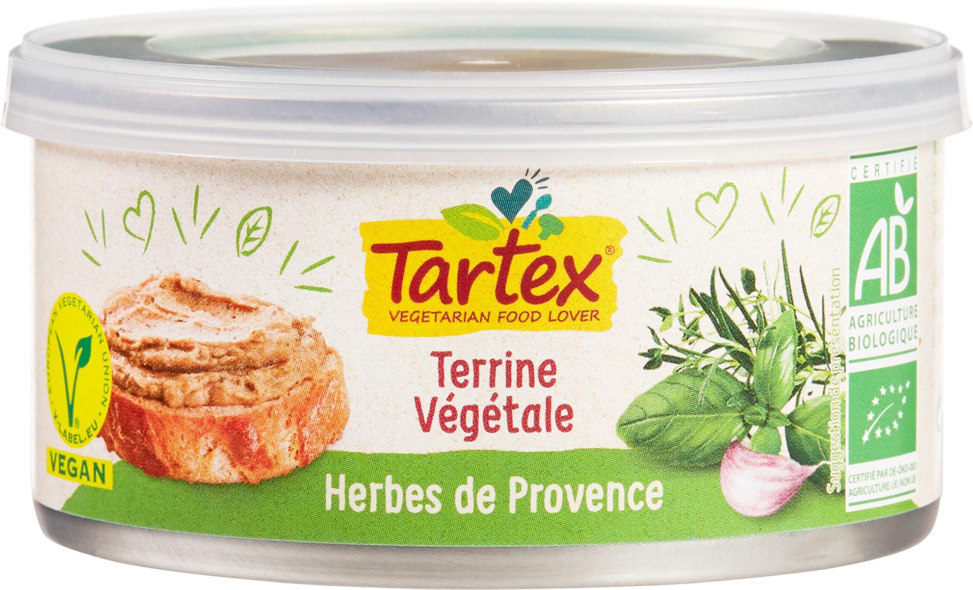 Biologische Tartex Vega paté Provencaalse kruiden 125 gr