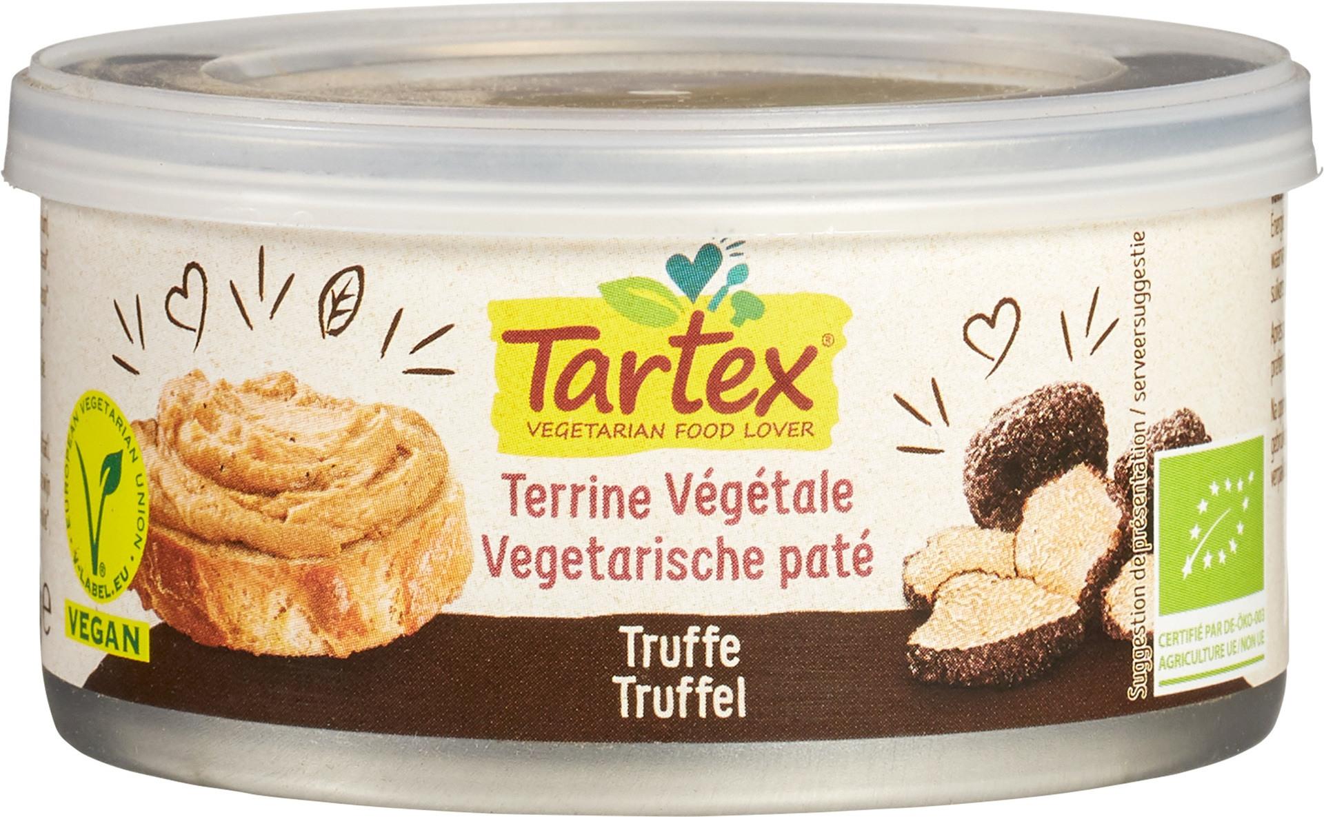 Biologische Tartex Vega paté truffel 125 gr
