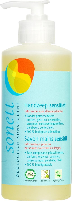 Biologische Sonett Handzeep sensitief 300 ml