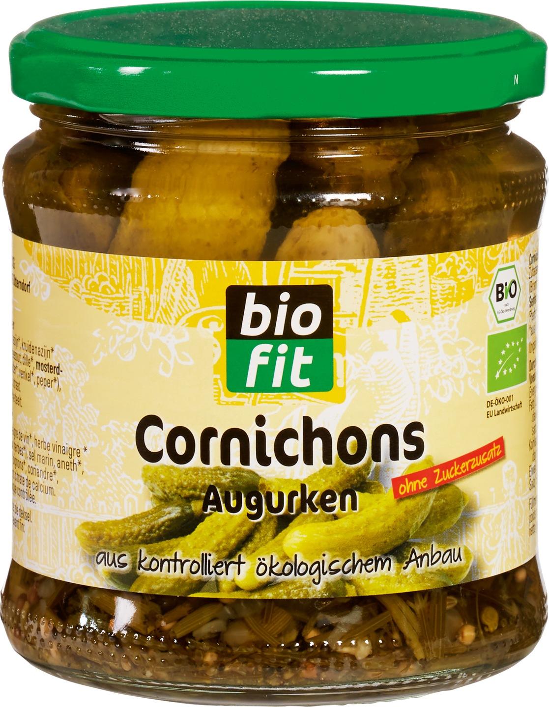 Biologische Bio Fit Augurken zuur 330 gr