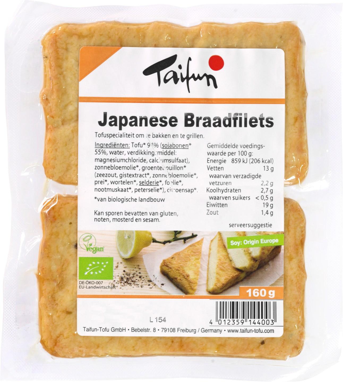 Biologische Taifun Japanse braadfilet 160 gr