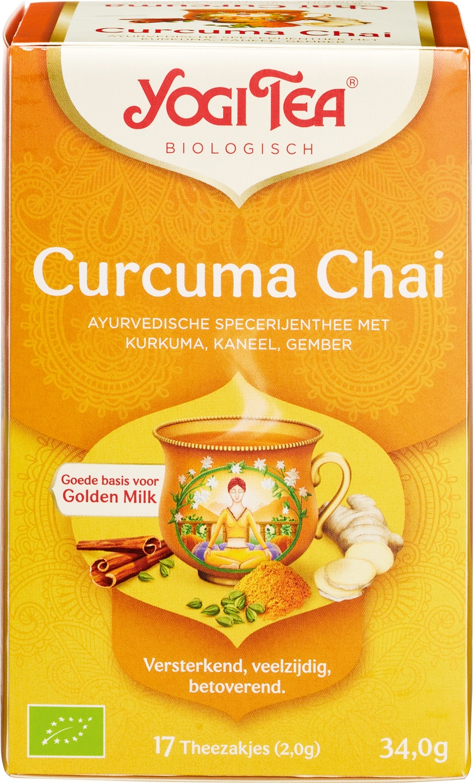 Biologische Yogi Tea Kruidenthee curcuma chai 17 builtjes