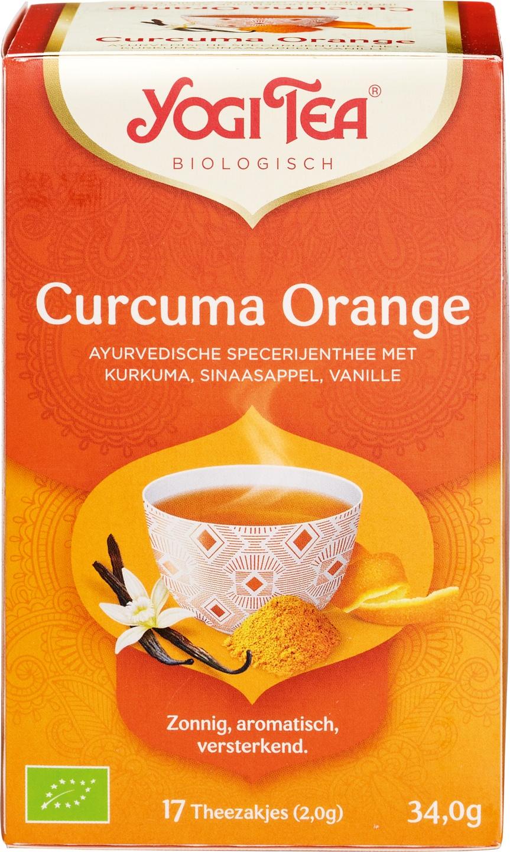 Biologische Yogi Tea Kruidenthee kurkuma sinaasappel 17 builtjes