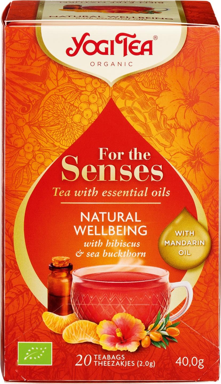 Biologische Yogi Tea Kruidenthee hibiscus mandarijn 20 builtjes