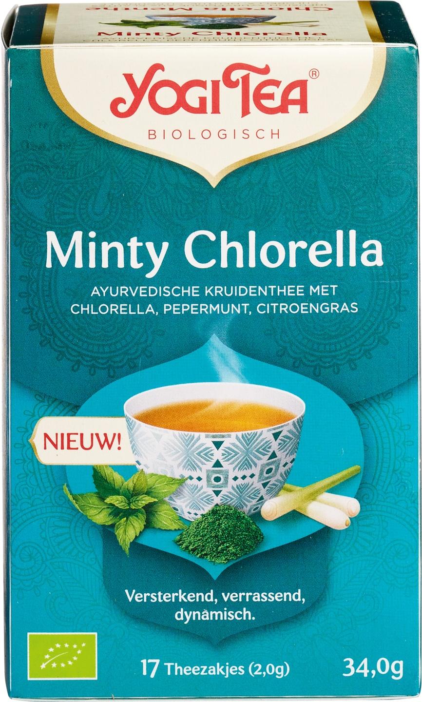 Biologische Yogi Tea Kruidenthee chlorella pepermunt citroengras 17 builtjes