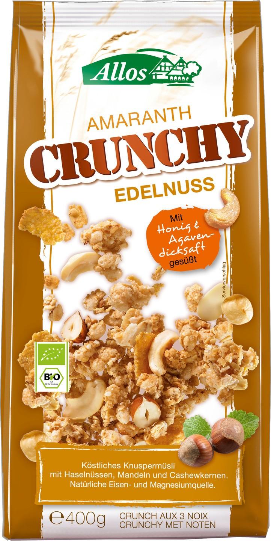 Biologische Allos Amaranth crunchy triple nut 400 gr