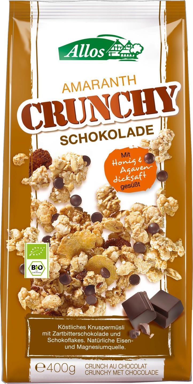 Biologische Allos Amaranth crunchy choco 400 gr