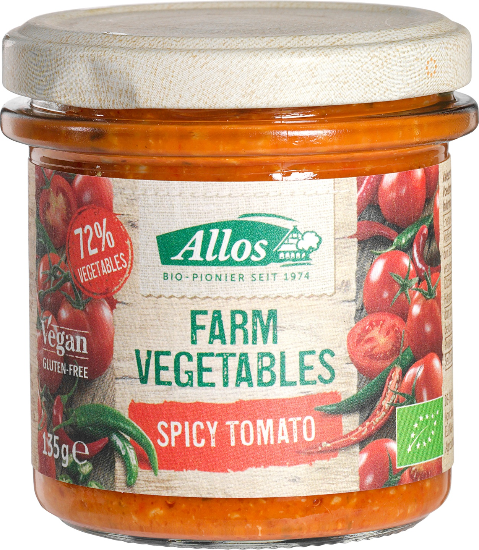 Biologische Allos Tomatenspread pittig 135 gr