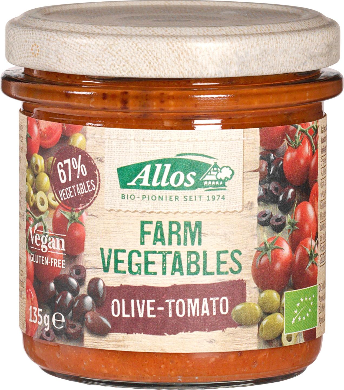 Biologische Allos Olijf- en tomatenspread 135 gr