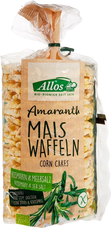 Biologische Allos Maiswafels rozemarijn & zeezout 100 gr