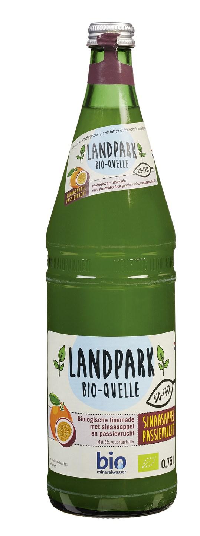 Biologische Landpark Bio-quelle Frisdrank sinaasappel passievrucht 0.75 L