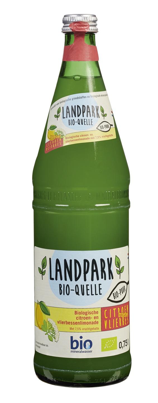 Biologische Landpark Bio-quelle Frisdrank citroen vlierbes 0.75 L