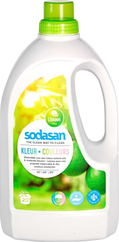 Biologische Sodasan Wasmiddel kleur limoen 1.50 L
