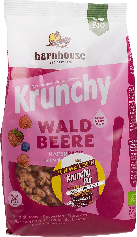 Biologische Barnhouse Krunchy pur-bosvruchten 375 gr