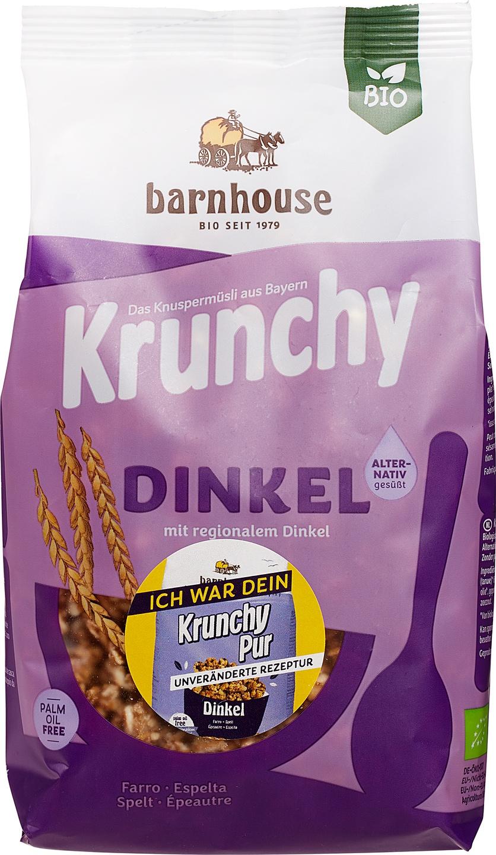 Biologische Barnhouse Krunchy pur-spelt 375 gr