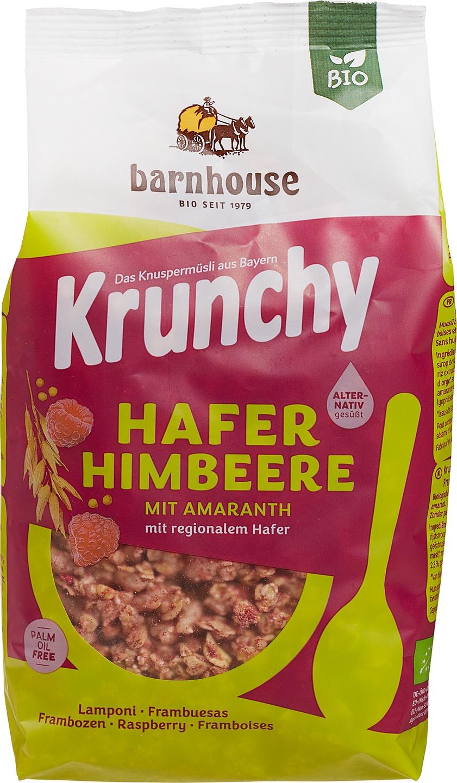 Biologische Barnhouse Krunchy amaranth framboos-aronia 375 gr