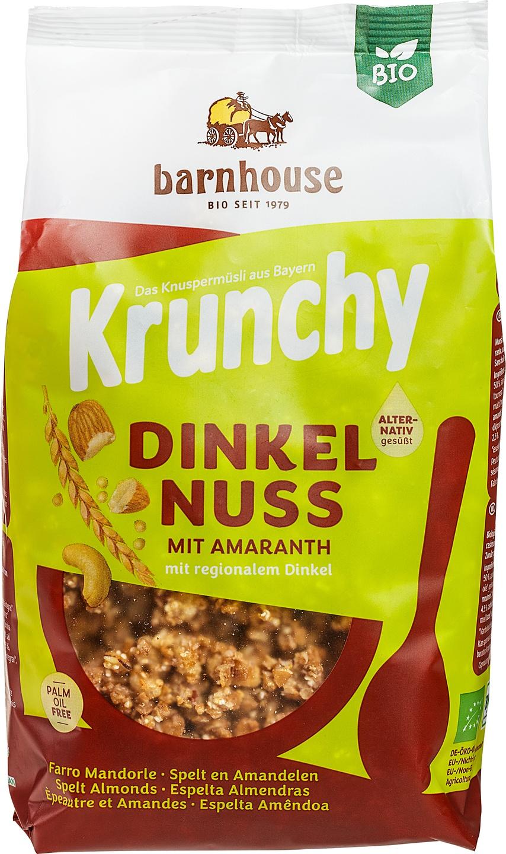 Biologische Barnhouse Krunchy amaranth spelt&nuts 375 gr