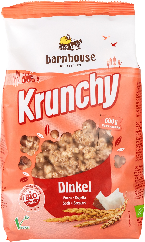 Biologische Barnhouse Krunchy spelt 600 gr