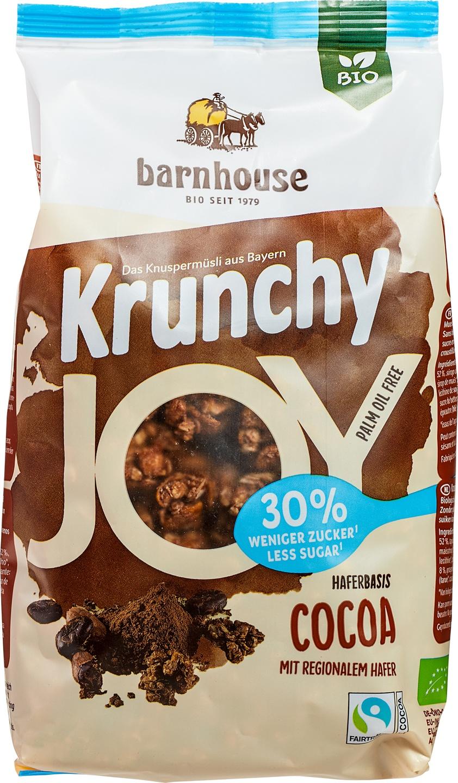 Biologische Barnhouse Krunchy muesli cacao 375 gr