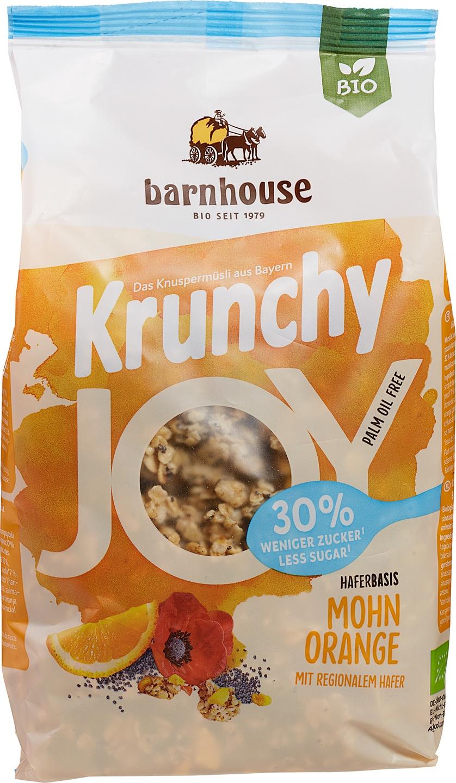 Biologische Barnhouse Krunchy joy maanzaad sinaasappel 375 gr
