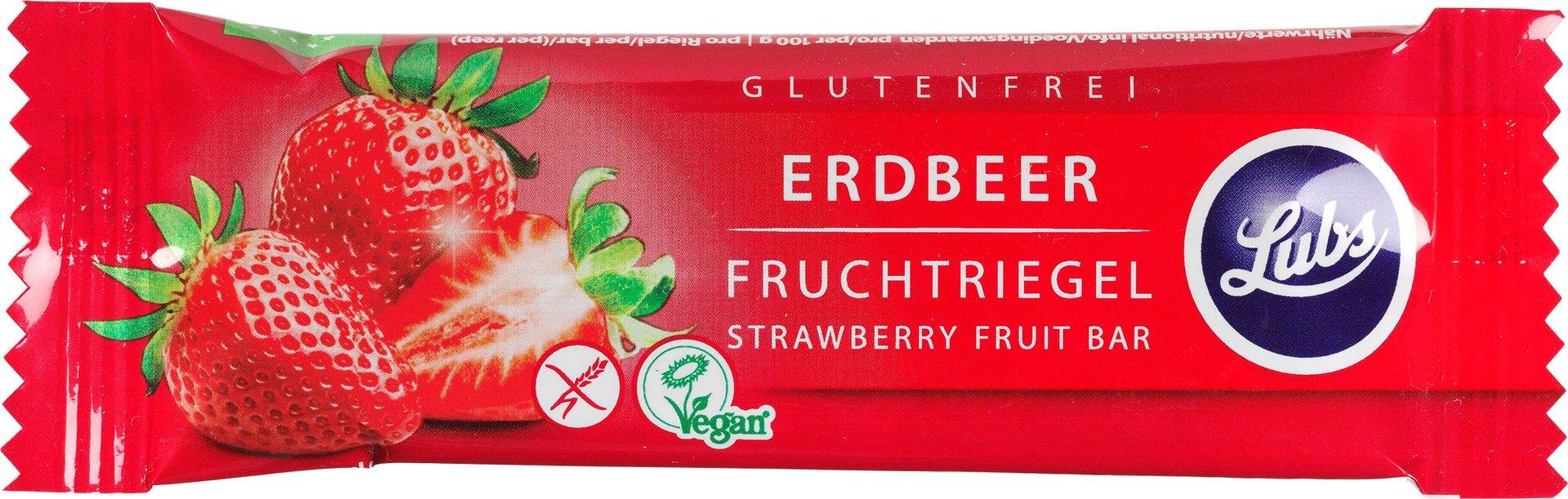 Biologische Lubs Fruitreep aardbei 30 gr