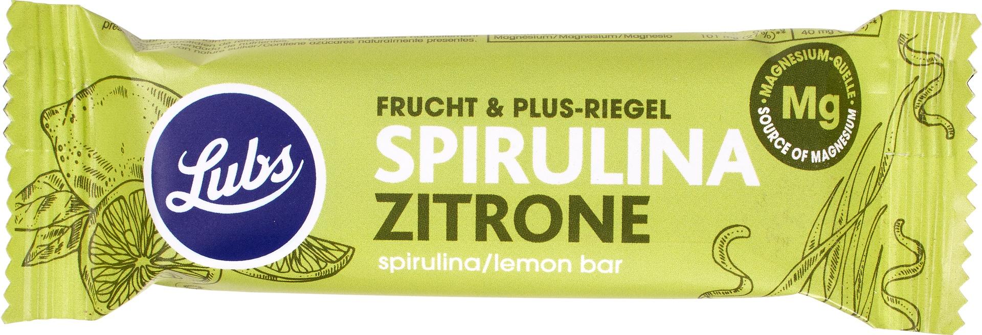 Biologische Lubs Fruitreep spirulina-lemon 40 gr