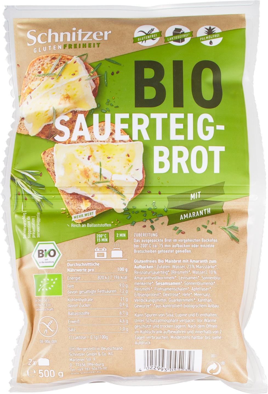 Biologische Schnitzer Brood rustico + amaranth 500 gr