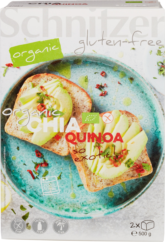 Biologische Schnitzer Brood Chia+Quinoa 500 gr