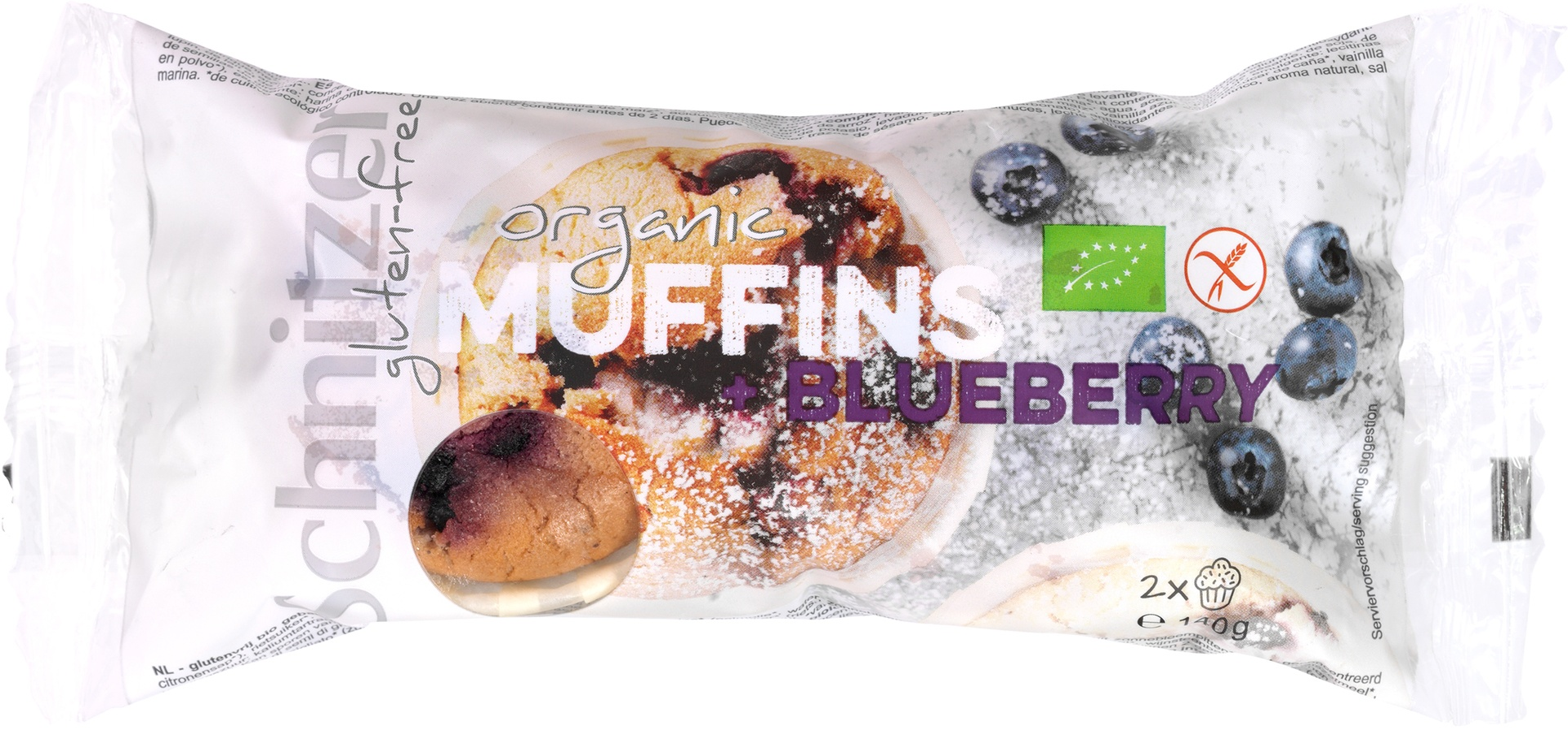 Biologische Schnitzer Muffin blueberry 140 gr