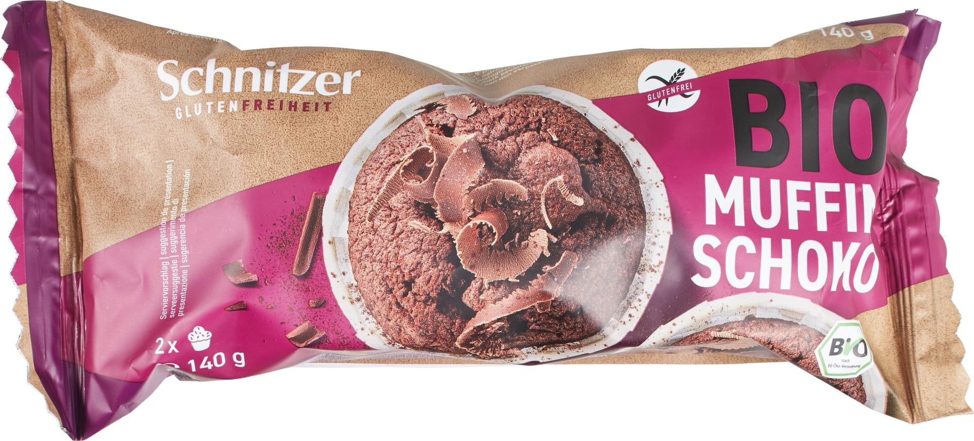 Biologische Schnitzer Muffin chocolate 2x140 gr 140 gr
