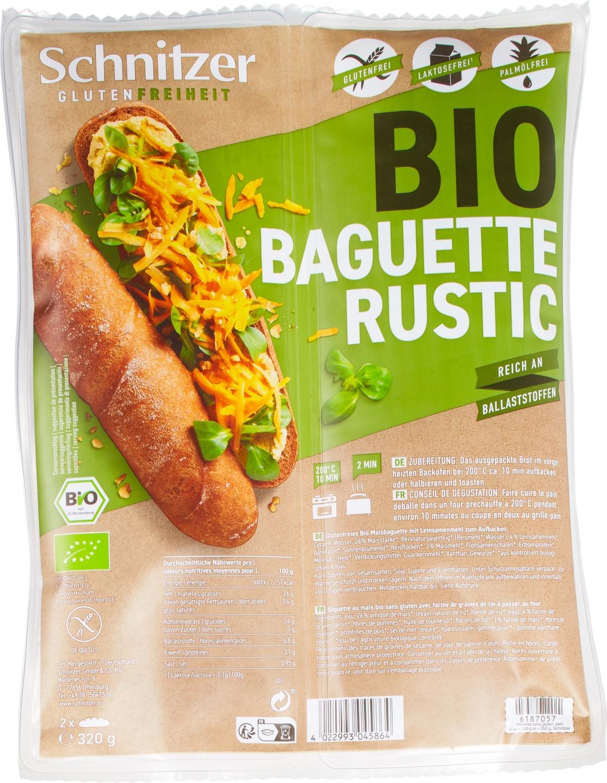 Biologische Schnitzer Baguette rustic 320 gr