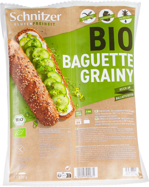 Biologische Schnitzer Baguette grainy 320 gr
