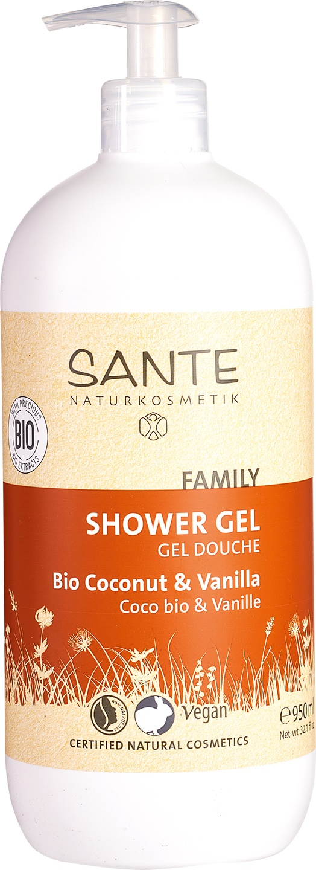 Biologische Sante Family Douchegel Kokos-Vanille 950 ml