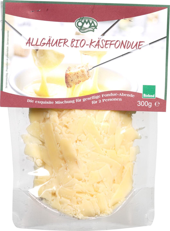 Biologische Öma Allgäuer kaasfondue snippers 48+ 300 gr