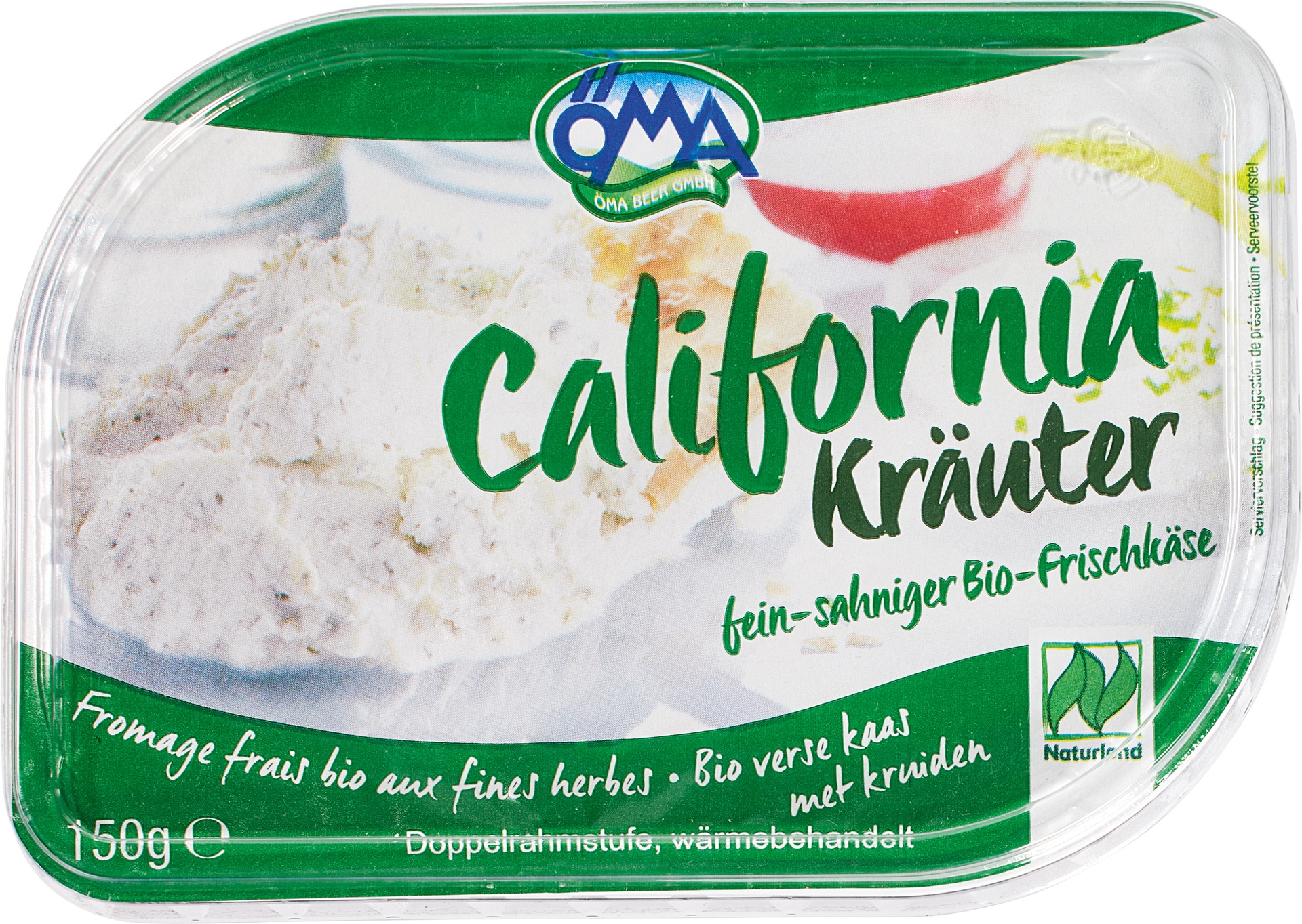 Biologische Öma California Frischkäse kruiden 70+ 150 gr